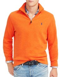 Polo Ralph Lauren | Orange French-rib Half-zip Pullover for Men | Lyst
