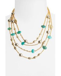 Alexis Bittar | Blue 'elements' Multistrand Necklace | Lyst