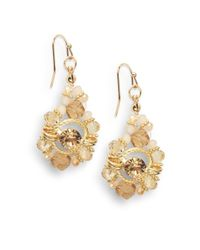 Saks Fifth Avenue | Metallic Beaded Gem Drop Earrings | Lyst