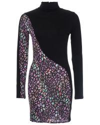 French Connection Multicolor Electric Leopard Dress