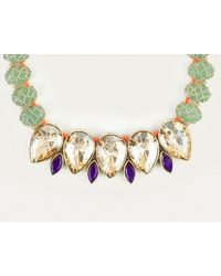 St Erasmus | Green Crystal Teardrop Necklace | Lyst