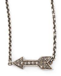 Zoe Chicco | Metallic Diamond Arrow Pendant Necklace | Lyst