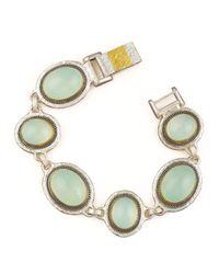 Gurhan - Blue Chalcedony Gauntlet Bracelet - Lyst