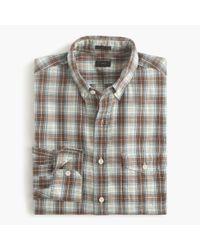 J.Crew | Green Slim Brushed Twill Shirt In Thomas Plaid for Men | Lyst
