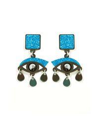 Nasty Gal - Blue Eyes On You Drop Earrings - Lyst