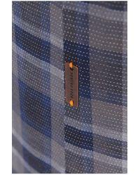 BOSS Orange | Blue 'califoe' | Slim Fit, Cotton Button Down Shirt for Men | Lyst