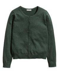 H&M Green Cotton Cardigan