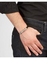 Bottega Veneta - Black Intrecciato Silver Nappa Bracelet for Men - Lyst