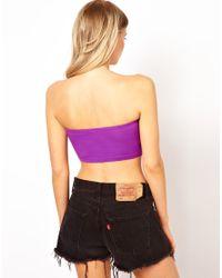 ASOS - Purple New Crop Bandeau Top - Lyst