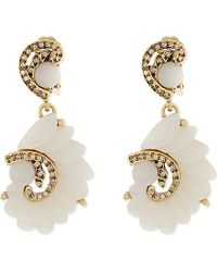 Oscar de la Renta | Natural Swirl Earrings - For Women | Lyst