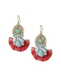 Banana Republic - Multicolor Shimmer Chic Statement Earrings - Lyst