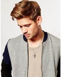 Emporio Armani - Metallic Cross Necklace for Men - Lyst