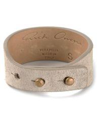 Rick Owens Brown Stud Fastening Bracelet for men