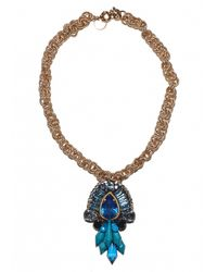 Matthew Williamson | Blue Crystal Cluster Necklace | Lyst