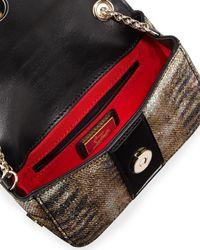Christian Louboutin Sweet Charity Small Glitter Crossbody Bag Black