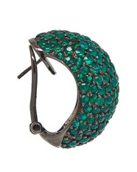 M.c.l - Green Agate Pave Earrings - Lyst