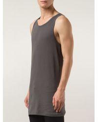 Haider Ackermann Gray Printed Rear Vest for men