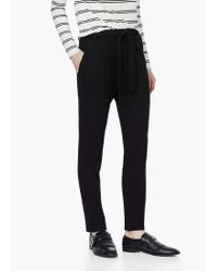 Mango | Black Textured Baggy Trousers | Lyst