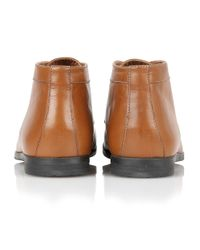 Frank Wright Brown Reid Mens Lace-up Boots for men