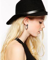ASOS - Metallic Snake Hoop Earrings - Lyst