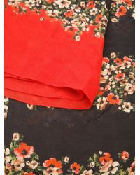 Dolce & Gabbana Red Floral Scarf