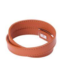 Ferragamo   Brown Leather Wrap Bracelet for Men   Lyst