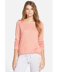 Rip Curl Pink 'simply Surf' Crewneck Sweatshirt