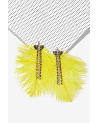 Nasty Gal - Yellow Birds Of Prey Rhinestone Earrings - Lyst