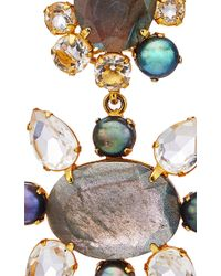 Bounkit | Multicolor Labradorite, Clear Quartz And Pearl Clip-on Earrings | Lyst