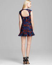 Twelfth Street Cynthia Vincent Multicolor Floral Brocade Mini Dress