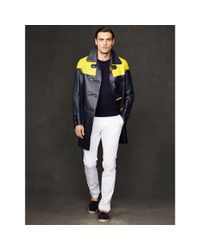 Ralph Lauren Purple Label - Yellow Leather Miller Toggle Coat for Men - Lyst