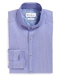 Robert Graham | Blue 'avio' Tailored Fit Stripe Dress Shirt for Men | Lyst