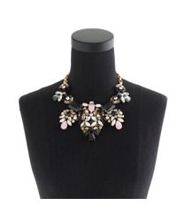 J.Crew | Metallic Floral Pastel Statement Necklace | Lyst