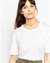 ASOS - Metallic Rose Gold Plated Sterling Silver Triangle Choker Necklace - Lyst