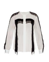 Chloé Black - Fringed Shirt - Women - Silk/viscose - 42