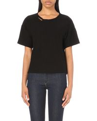 Citizens of Humanity | Black Esmay Cotton-jersey T-shirt | Lyst