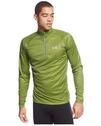 Under Armour | Green Promise Land Printed Performance Quarter-zip Pullover for Men | Lyst