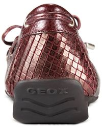 Geox - Red D Grin Flats - Lyst