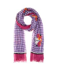 Marc Jacobs Multicolor Printed Cashmere And Silk-Blend Scarf