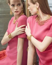 Oscar de la Renta - Metallic Golden Coral Branch Bracelet - Lyst