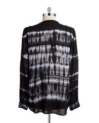 Calvin Klein   Black Button-front Blouse   Lyst