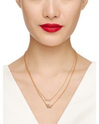 kate spade new york - Metallic Meet Your Match Bridal Multi Pendant - Lyst