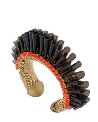 Sveva Collection - Black Audace Bracelet - Lyst