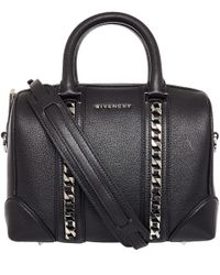 Givenchy Black Patent Leather Pandora Bag