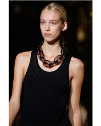 Stella McCartney - Black Plexy Chain Necklace - Lyst