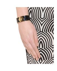Marc By Marc Jacobs - Black Connect The Bolt Cuff Bracelet - Lyst