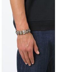 Alexander McQueen | Natural Embellished Skull Bracelet | Lyst