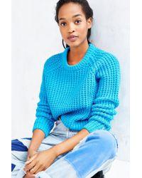 BDG Blue Kia Tuck-stitch Sweater