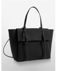Calvin Klein | Gray Cecilia Wing Courier Bag | Lyst