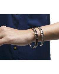 Hermès - Purple Pre-owned Burgundy Leather Belt Pm Bracelet - Lyst
